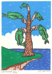 Basswood Tree - Woodblock Print