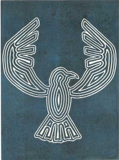 "Title: ""Crow"" Medium: Linocut Paper Size: 7.5"" X 10""Elephant"