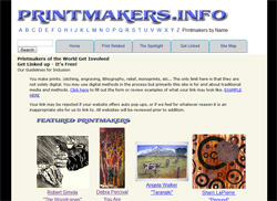 Printmakers Info - Website design by Robert Viana